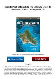 {Kindle} Oahu Revealed The Ultimate Guide to Honolulu  Waikiki & Beyond PDF