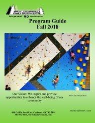 Fall 2018 Program Guide