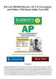 R.E.A.D. [BOOK] Barron's AP U.S. Government and Politics With Bonus Online Tests PDF