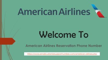 Call American Airlines Reservation Phone Number