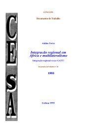 Integracão regional em Africa e multilateralismo - Adelino Torres