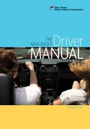 Driver MaNual - State of New Jersey