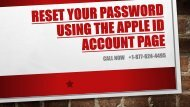 Reset Your Password Using The Apple Id Account