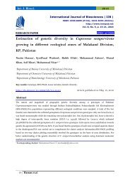 Estimation of genetic diversity in Cupressus sempervirens growing in different ecological zones of Malakand Division, KP, Pakistan