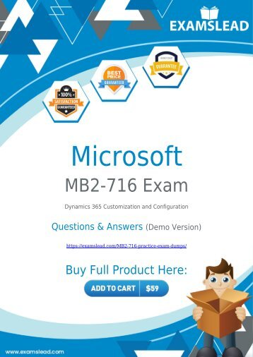 MB2-716 Exam Dumps | Microsoft MCSA MB2-716 Exam Questions PDF [2018]