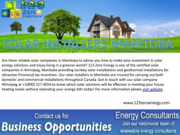 Professional Solar Installers in Manitoba