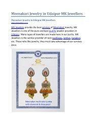 Meenakari Jewelry in Udaipur MK Jewellers