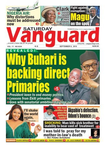 08092018 - Revealed! Why Buhari is backing Oshiomhole on direct primaries