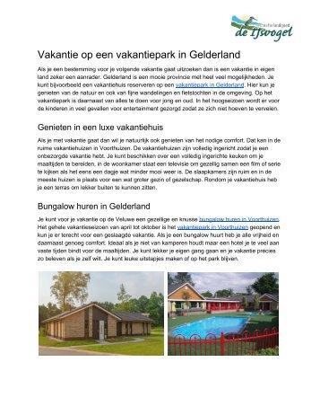 Vakantie op een vakantiepark in Gelderland