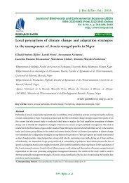 Local perceptions of climate change and adaptation strategies in the management of Acacia senegal parks in Niger