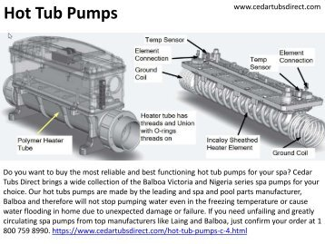 Reliable and Best Functioning Hot Tub Pumps