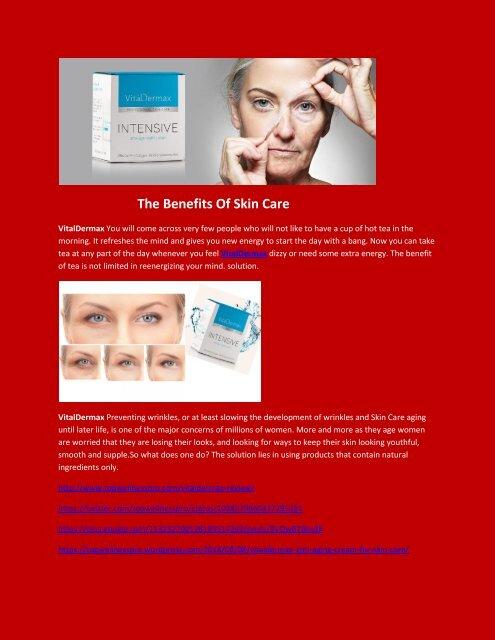 VitalDermax - The Benefits Of Skin Care