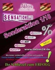 Sonderaktion 1-18 ohne Preis. Sonderaktion mit Preisen können Sie unter Infos und Downloads herunterladen.