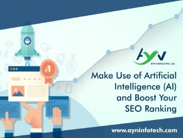 Make Use of Artificial Intelligence and Boost Your SEO Ranking