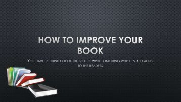 How to Improve Your Book