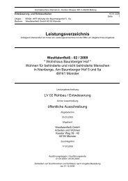 Anlagen zum Leistungsverzeichnis: 01 ... - Westfalenfleiß