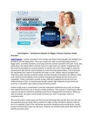 Vital Progenix : Testosterone Booster for Bigger, Enhance Stamina, Harder Erection!
