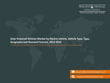 Solar Powered Vehicles Market Growth and Demand Forecast, 2013-2023