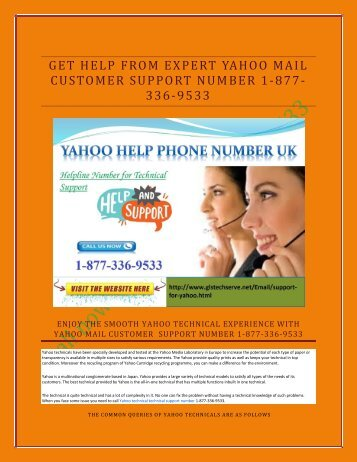 GET HELP FROM EXPERT YAHOO MAIL  CUSTOMER SUPPORT NUMBER 1-877-336-9533-output