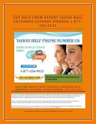 GET HELP YAHOO MAIL 1877-503-0107 CUSTOMER SUPPORT NUMBER