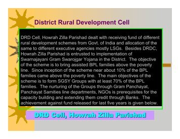 DRD Cell, Howrah Zilla Parishad District Rural Development Cell