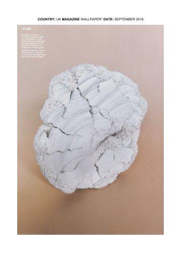 Wallpaper UK Magazine - Simone Pheulpin (september 2018)