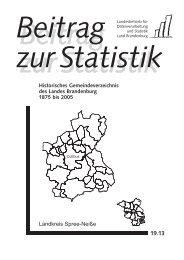 Historisches Gemeindeverzeichnis des Landes ... - Brandenburg.de