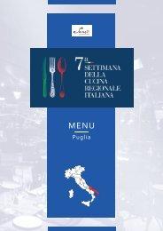 7ª Settimana della Cucina Regionale Italiana - Puglia