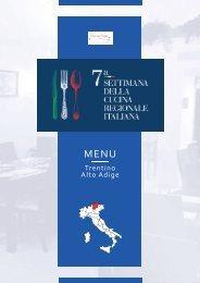7ª Settimana della Cucina Regionale Italiana - Trentino Alto Adige