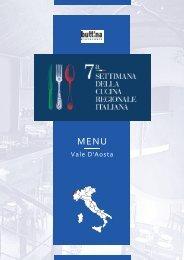 7ª Settimana della Cucina Regionale Italiana - Vale d' Aosta