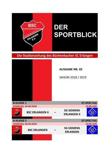 Der Sportblick (Ausgabe Nr. 02 | 18/19)