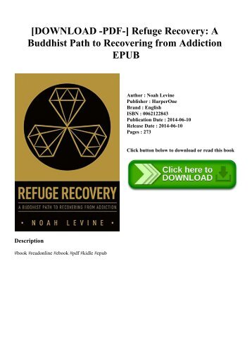 [DOWNLOAD -PDF-] Refuge Recovery A Buddhist Path to Recovering from Addiction EPUB