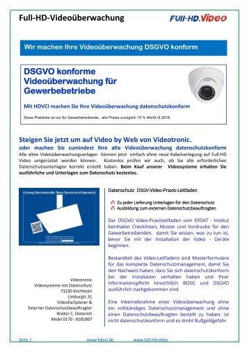 HDVCI-Videoüberwachung Videotronic_Preisliste Gewerbe.2018