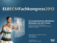 Formularbasierter Workflow - ELO Digital Office GmbH