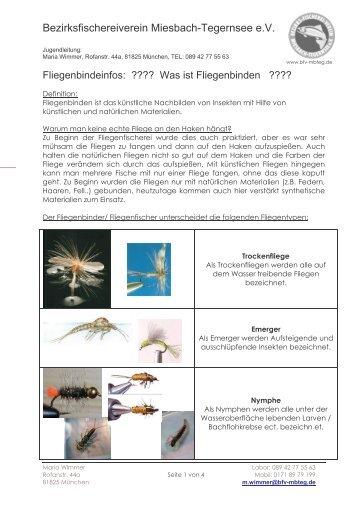 mehr infos - Bezirksfischereiverein Miesbach - Tegernsee eV