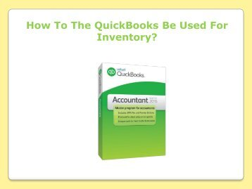 How To The QuickBooks Be Used For Inventory?
