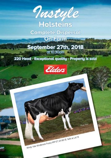 Instyle Holsteins Complete Dispersal On-Farm