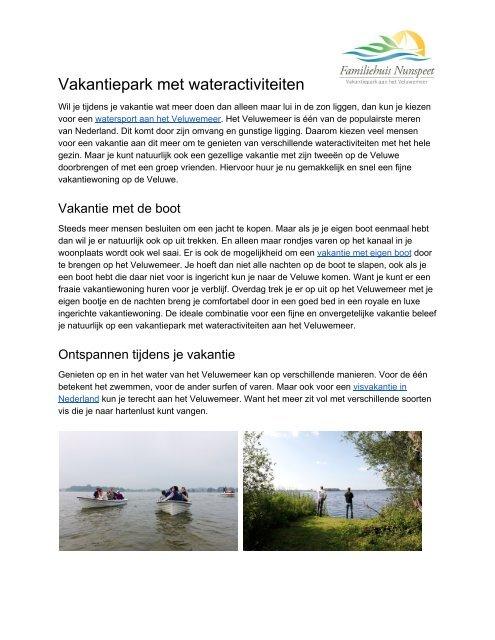 Visvakantie Nederland