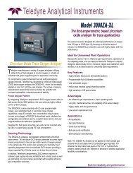 Model 3000ZA-XL Zirconium Oxide Trace Oxygen ... - Bernt GmbH