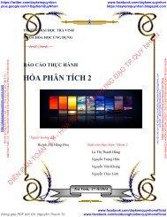 BÁO CÁO THỰC HÀNH HÓA PHÂN TÍCH 2 - VẬN HÀNH MÁY GC HƯỚNG DẪN TOTALCHROM CHO PHIÊN BẢN 6.3 - TRƯỜNG ĐẠI HỌC TRÀ VINH