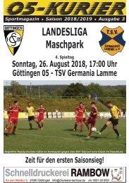 Saison 18/19 - SpTg 4: Gö̈ttingen 05 - TSV Germania Lamme