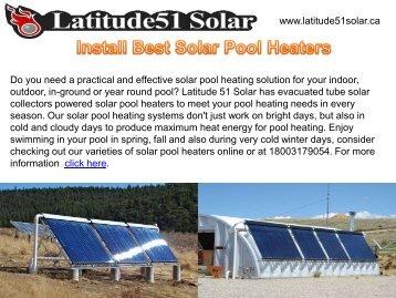Install Best Solar Pool Heaters