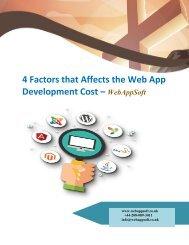 4 Factors that Affects the Web App Development Cost
