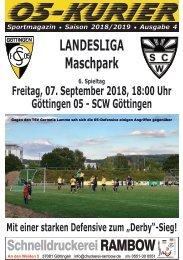 Saison 18/19 - SpTg 6: Gö̈ttingen 05 - SCW Gö̈ttingen
