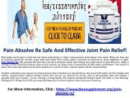 Pain Absolve Rx - Will This Natural Formula Fix Your Joints