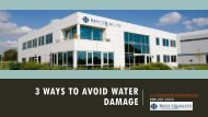 3 Ways to Avoid Water Damage