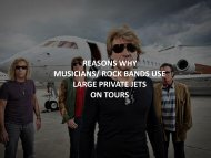 Reasons why musician use private jets