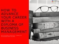 HOW TO ADVANCE YOUR CAREER WITH A DIPLOMA OF BUSINESS MANAGEMENT