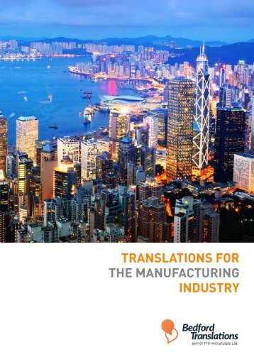 Translations For The Manufacturing Industry