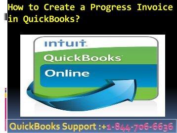 How to Create a Progress Invoice in QuickBooks